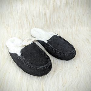 Target Brand Stars Above Slippers Suede Black Sz 7